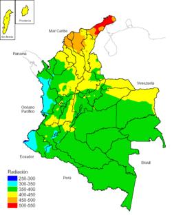 mapa de clima de colombia