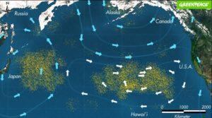 continente de plástico del océano pacífico