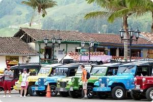 Jeeps en salento quindio